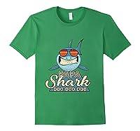 Papa Shark Doo Doo Funny Gift Dads Boss Man Shirts Forest Green