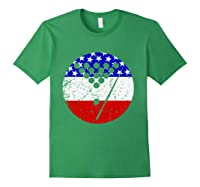 American Flag Billiards Vintage Retro Pool Shirts Forest Green