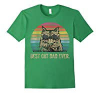 Best Cat Dad Ever Papa Birthday Father's Day Gift Shirts Forest Green