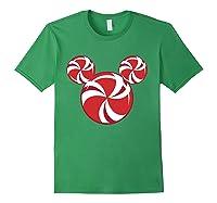 Disney Christmas Candy T Shirt Forest Green