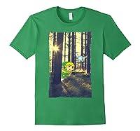 Nintendo Zelda Link And Navi Photo Real Forest Scene Shirts Forest Green