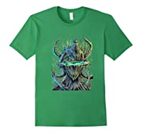 Flat Earth Monster Shirts Forest Green