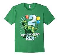 Disney Pixar Toy Story Birthdaysaurus Rex 2nd Birthday T-shirt Forest Green