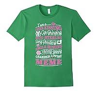 M Gift Bringing Story Reading Meme Mom Grandma Shirts Forest Green