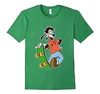 Disney Maxie Skateboard T Shirt Forest Green