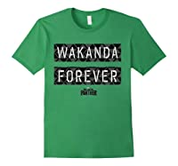 Black Panther Wakanda Forever Pattern Shirts Forest Green