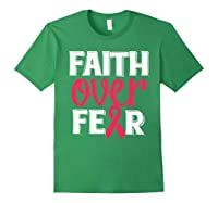 Faith Over R Breast Cancer Awareness Gift Shirts Forest Green