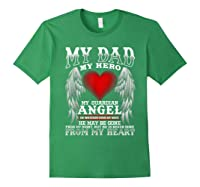 My Dad, My Hero, My Guardian Angel Father's Day Shirts Forest Green