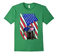 Vintage Great Dane Dog American Usa Flag Distressed Shirts Forest Green