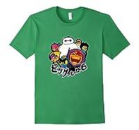 Disney Big Hero 6 Team Of Superheroes Chibi T-shirt Forest Green