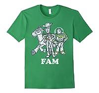 Disney Pixar Toy Story Woody Buzz Bullseye Fam Shirts Forest Green