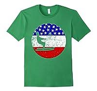 American Flag Waterskiing Vintage Retro Waterskiier Shirts Forest Green