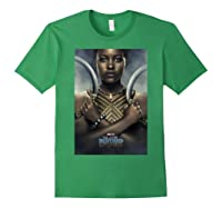 Black Panther Avengers Nakia Poster Graphic Shirts Forest Green