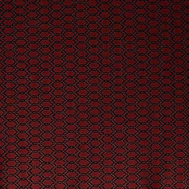 Fabtrends Jacquard Geometric Black Red Fabric 3 Yards
