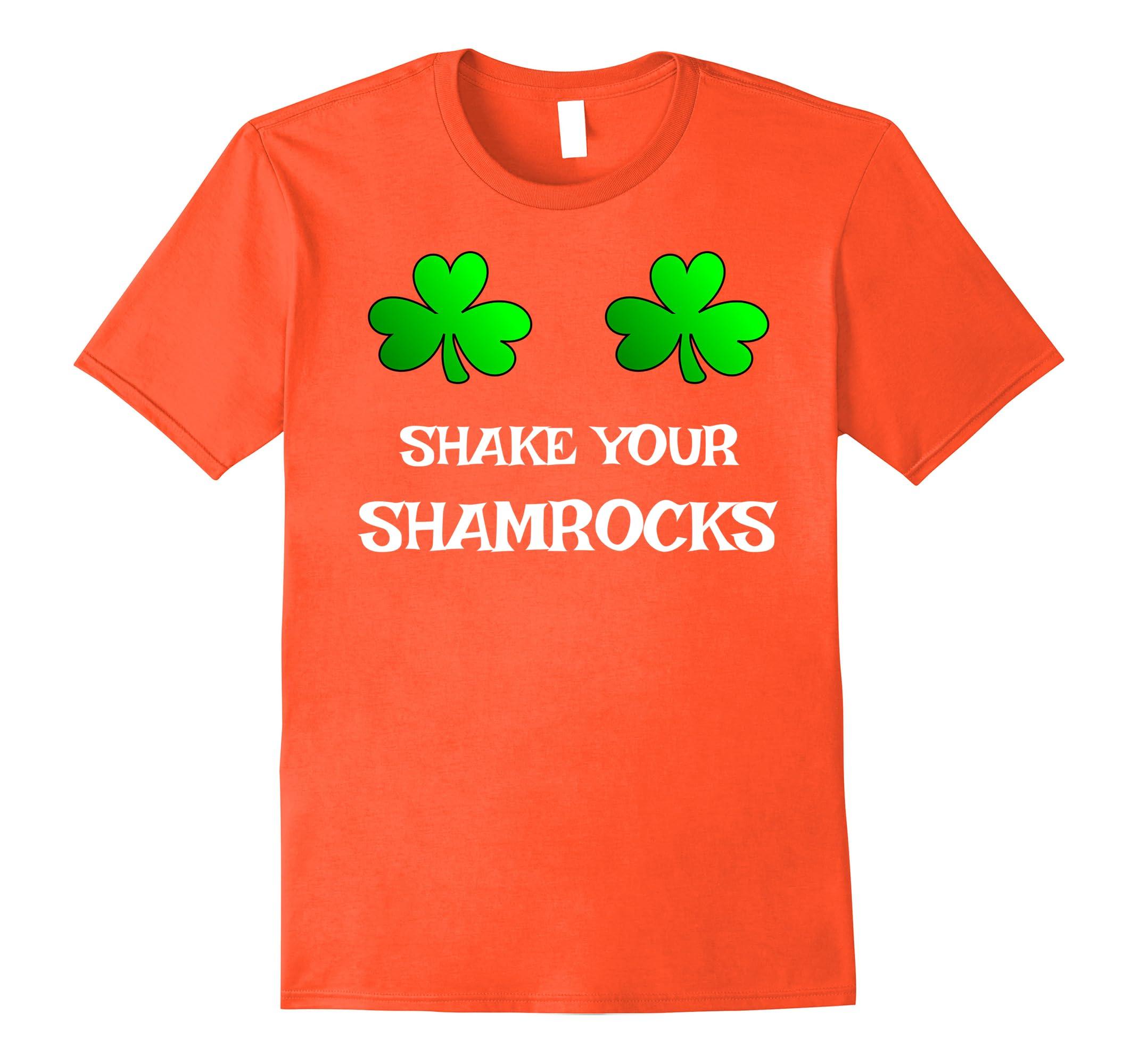 Shake Your Shamrocks Funny Women's Saint Patrick's Day Shirt-RT
