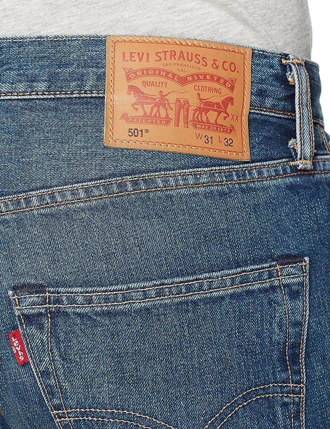 Levis 501 Original Fit Jeans Pantalón Vaquero con diseño clásico y cómodos de Usar para Hombre