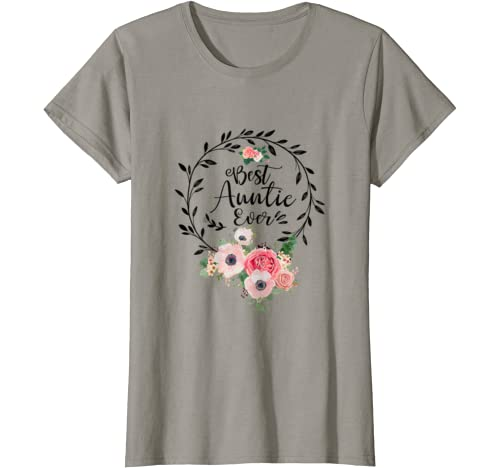 Womens Best Auntie Ever Mother's Day Gift Aunt T Shirt