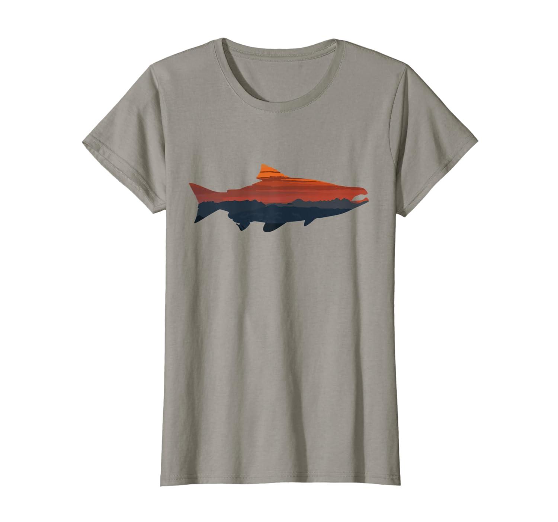 Salmon Fishing Nature Outdoor Hiking Camping Fisherman Gift T-Shirt Unisex Tshirt