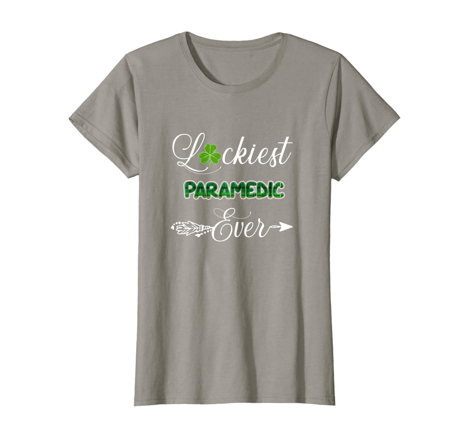 Green Plaid Luckiest Paramedic Ever St Pattys Day Gifts T-Shirt Unisex Tshirt