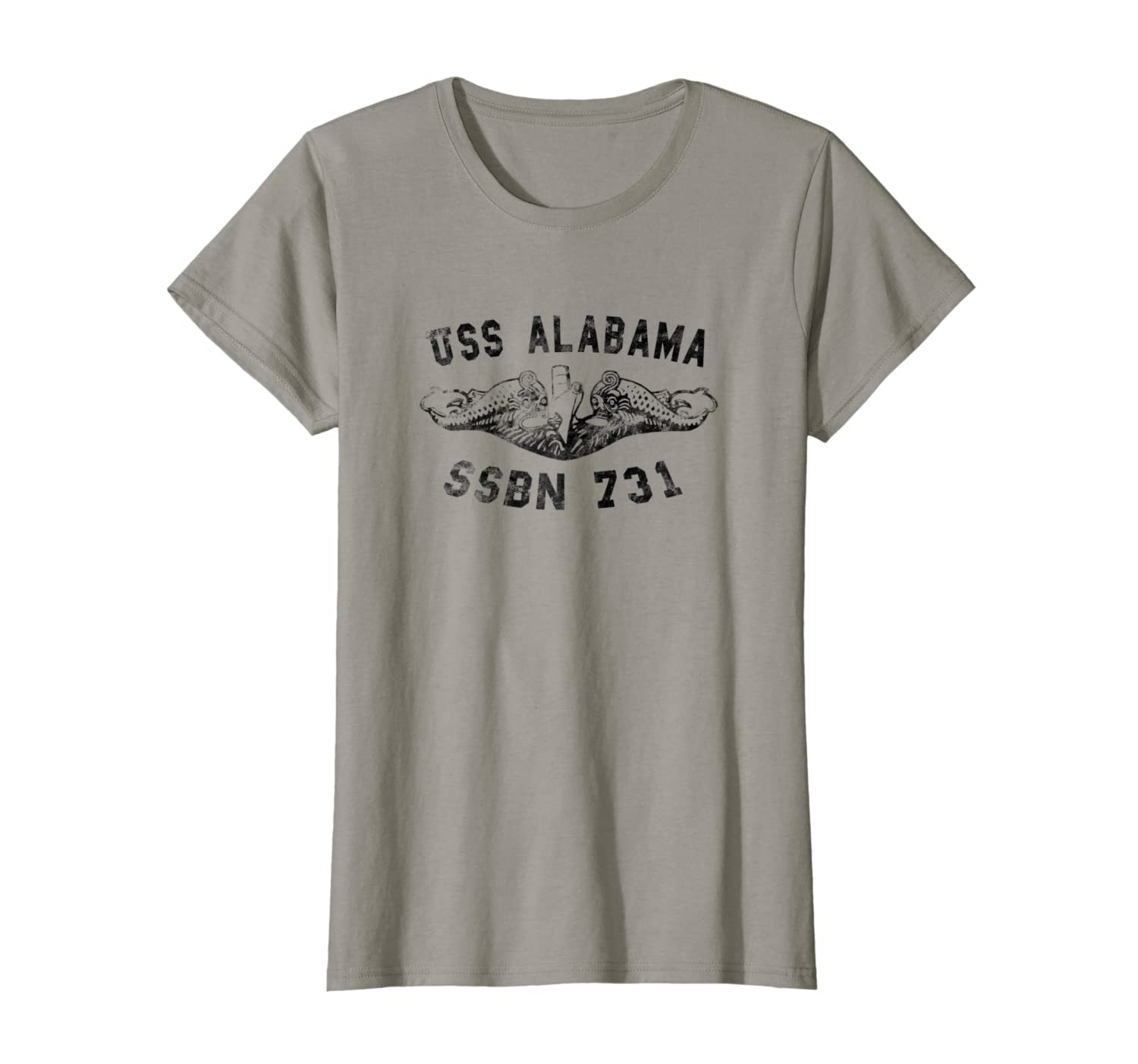 USS Alabama SSBN 731 Submarine Badge Vintage T-shirt