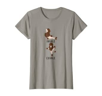 Amazon.com: Camiseta para mujer Inhale Exhale Brown Poodle ...