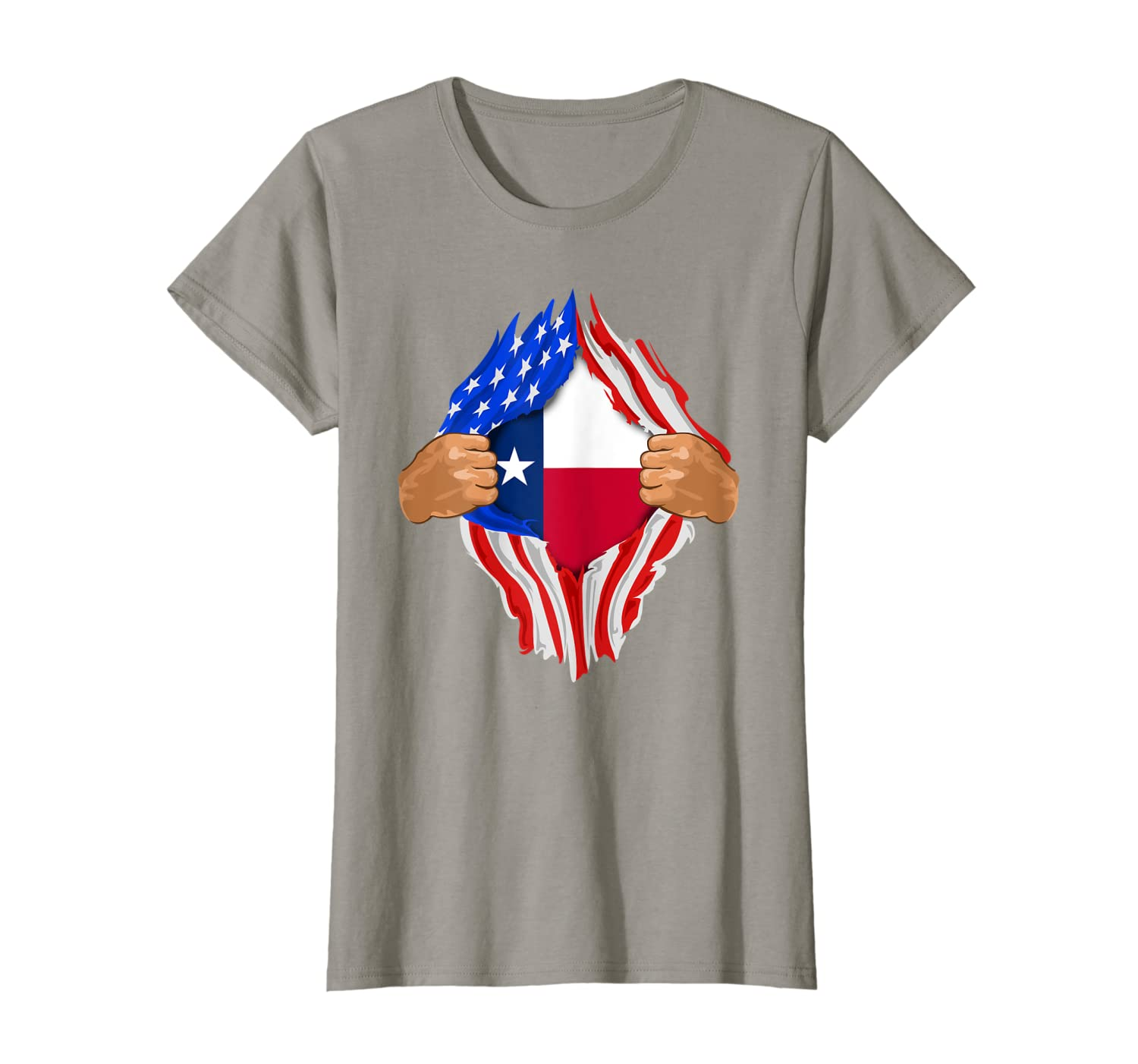 Texas Roots Inside State Flag Shirt  American Proud Tee-Loveshirt