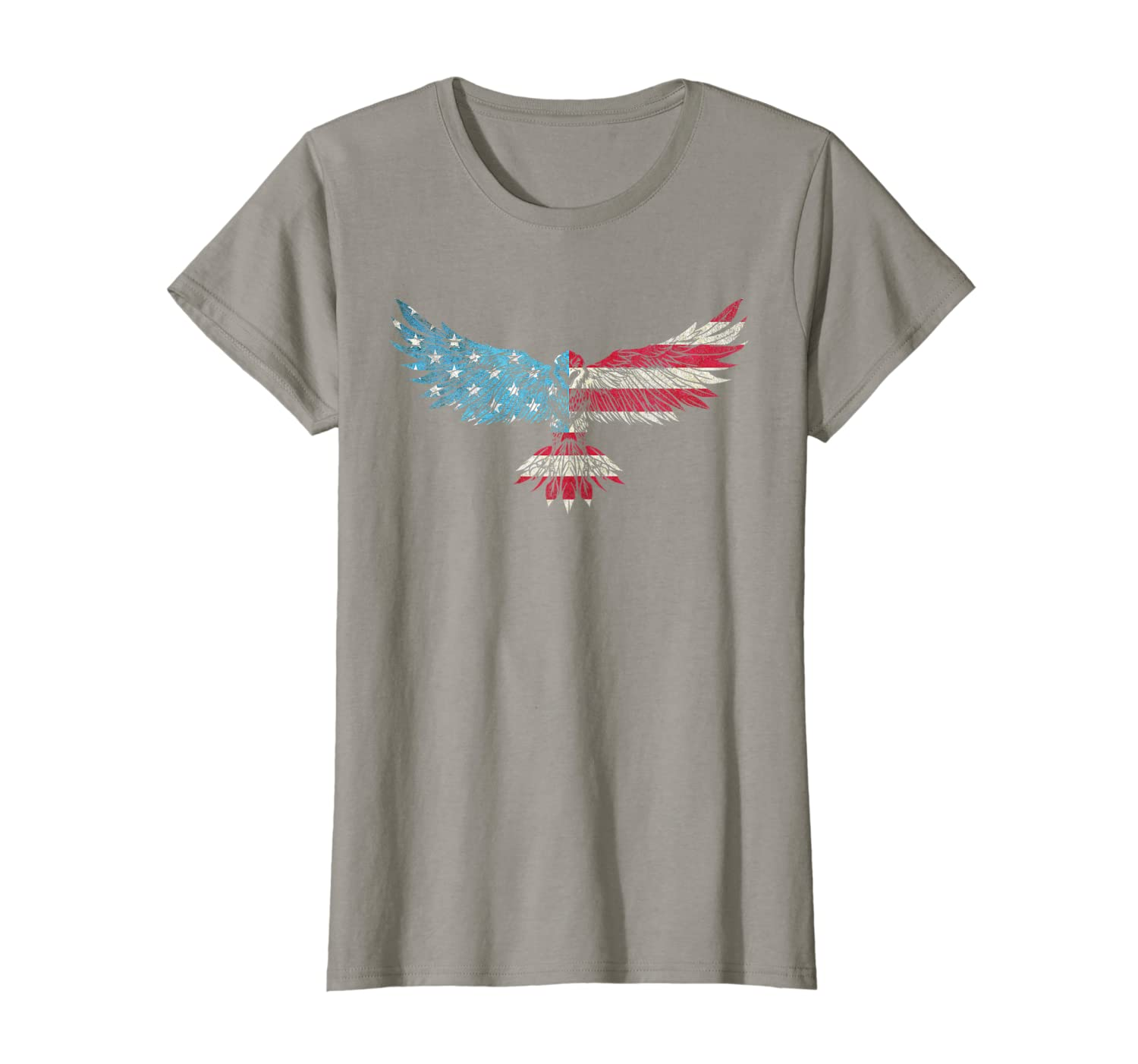 Patriotic USA American Flag Bald Eagle Silhouette T-Shirt