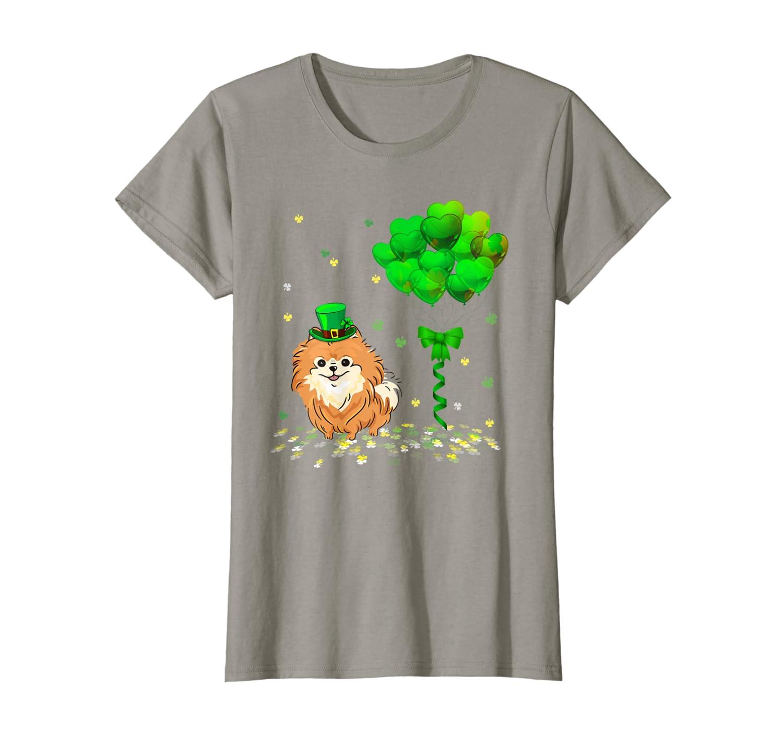 Irish Pomeranian Leprechaun Balloon St Patricks Day T-Shirt Unisex Tshirt