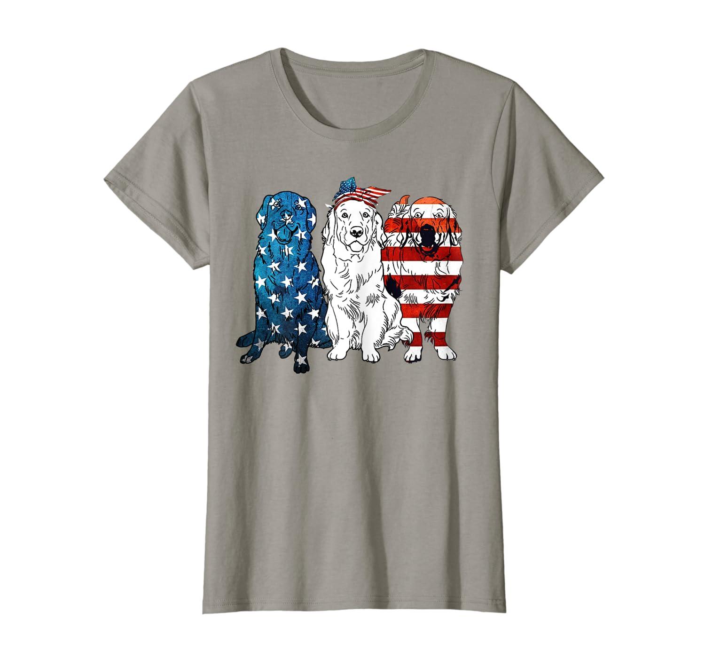 American Golden Retriever Patriotic US Flag 4th Of July Tshi Unisex Tshirt