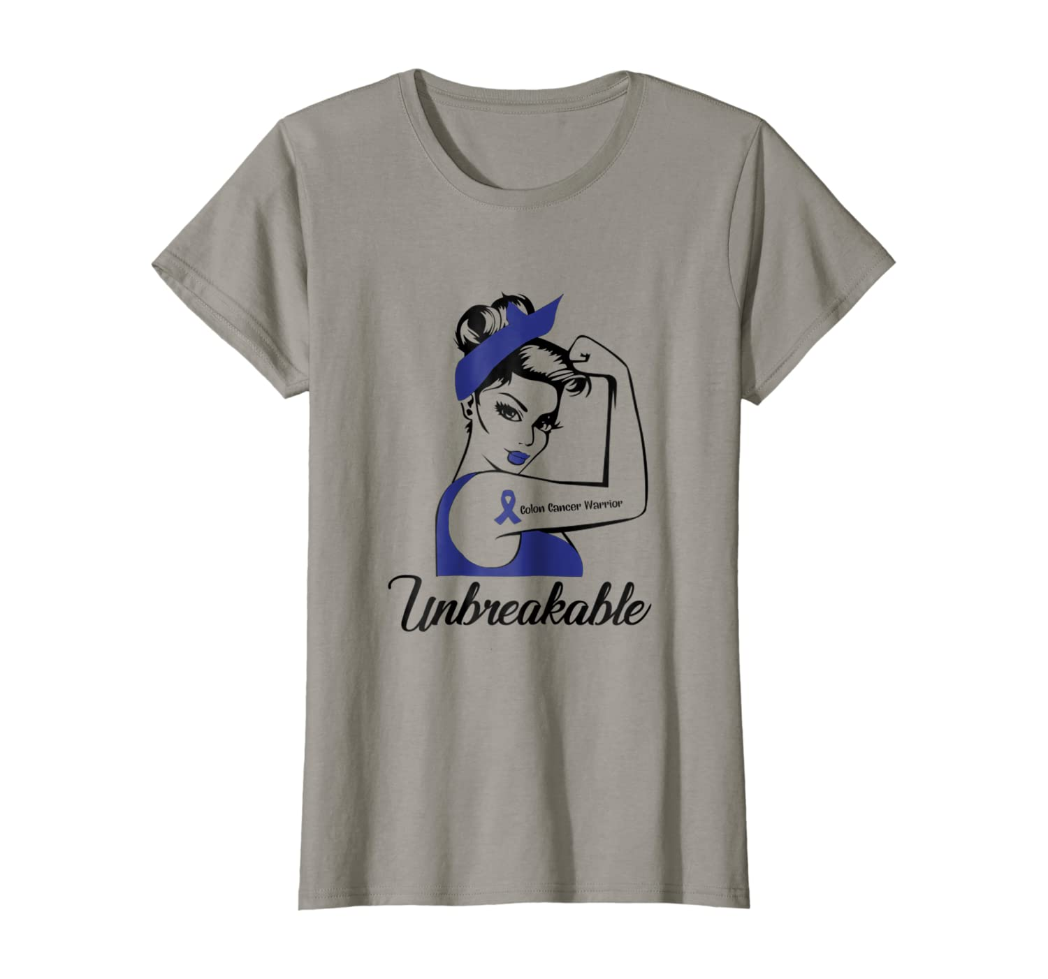Amazon Com Strong Woman Colon Cancer Warrior Unbreakable T Shirt Clothing