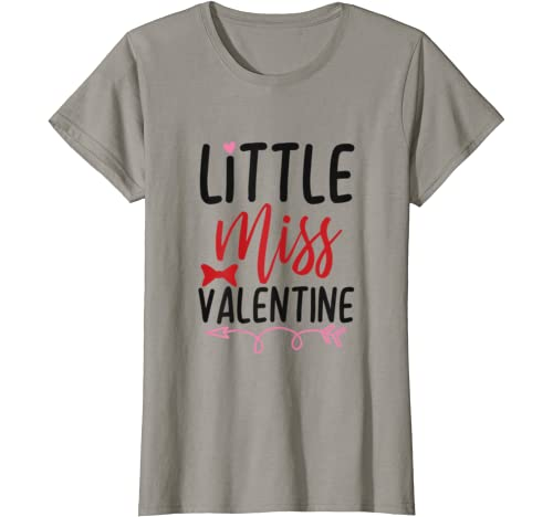 Valentines Day Funny Gift For Girls, Little Miss Valentine T Shirt