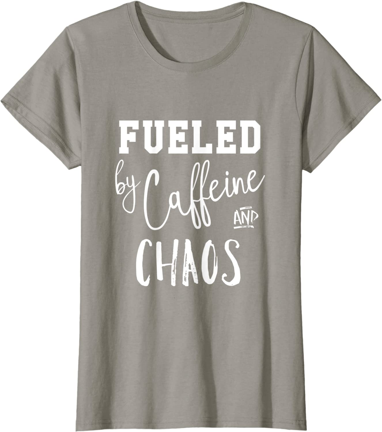 Fueled by caffeine and chaos women/'s fitted hoodie