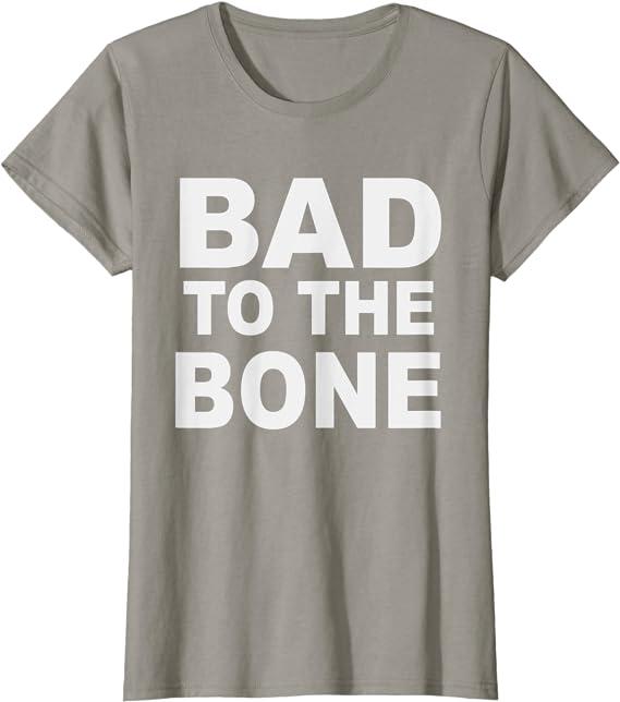 Size Large. Unisex Bad to the Bone graphic tee