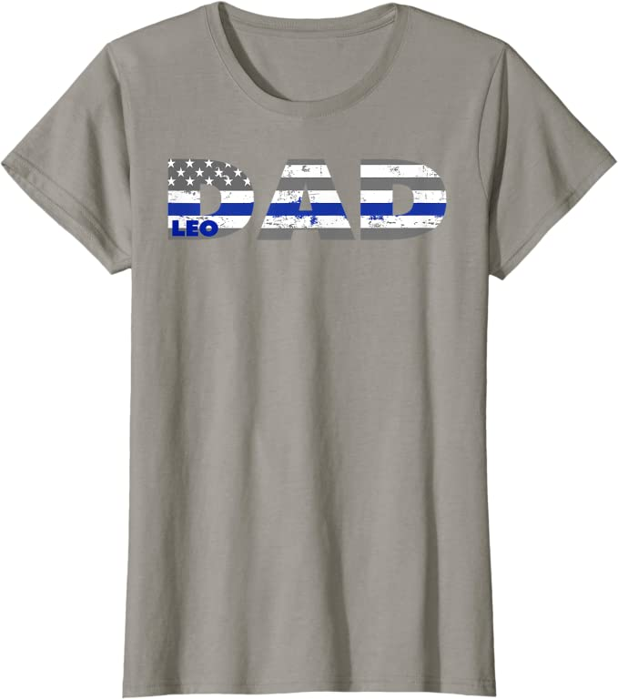 Gift for Police Officer Gifts for Dad Grey Baseball Tee Police Badge Shirt Police Cotton New Baby Police Officer Cops
