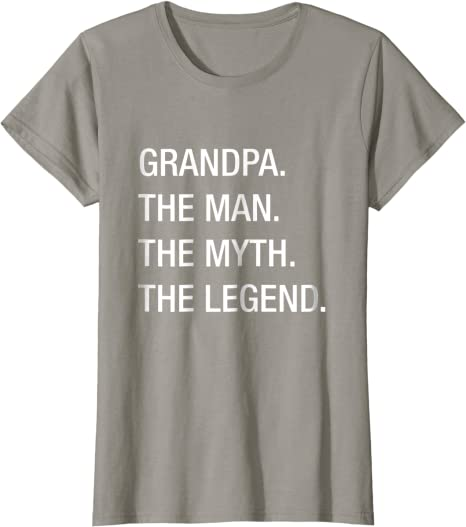 Grandpa Gifts Grandpa Shirt Grandpa Shirt The Man The Myth The Legend Birthday Present Grandpa Seal Shirt Papa Shirt Christmas Gift