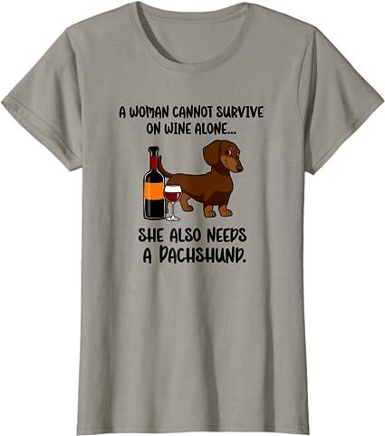 Woman T-shirt mohair teckel entendre sur parole by siviwonder