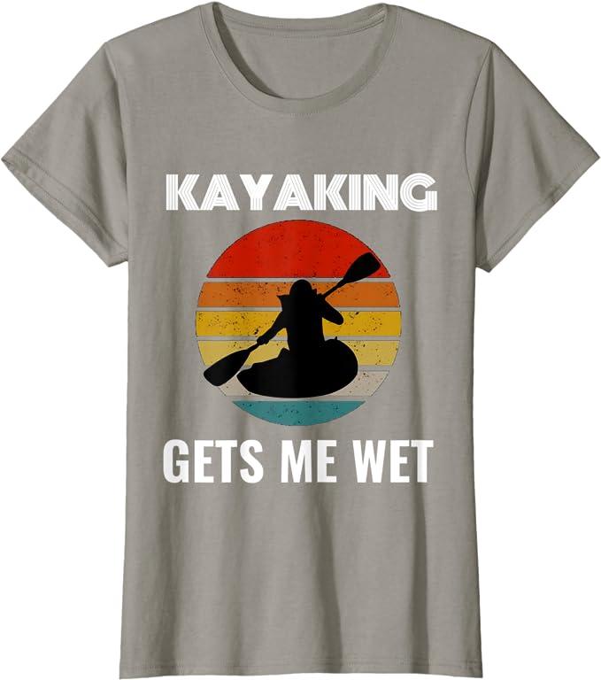 KAYAK CANOE RAFTING Pagaie KAYAKER Vintage /Évolution KAYAK T-Shirt