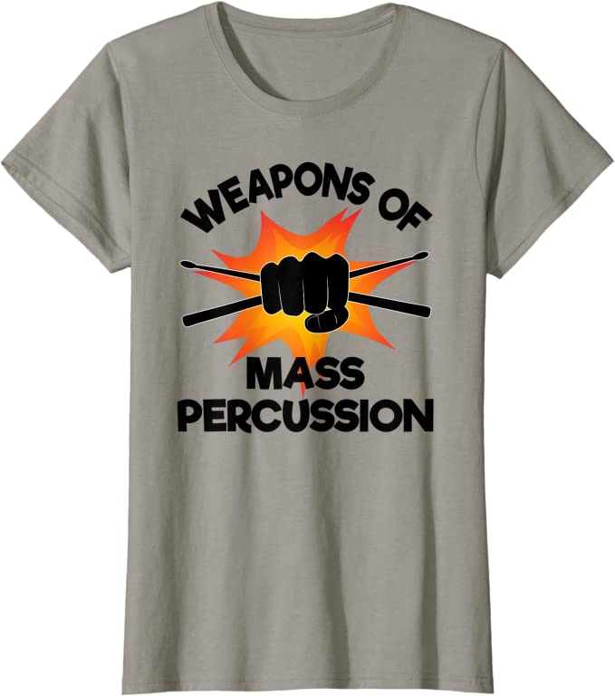 Weapons Of Mass Percussion Banned Member T-SHIRT tee birthday drums pleneras
