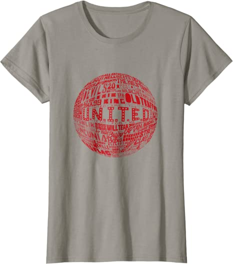Red Typography Print t-shirt Manchester United
