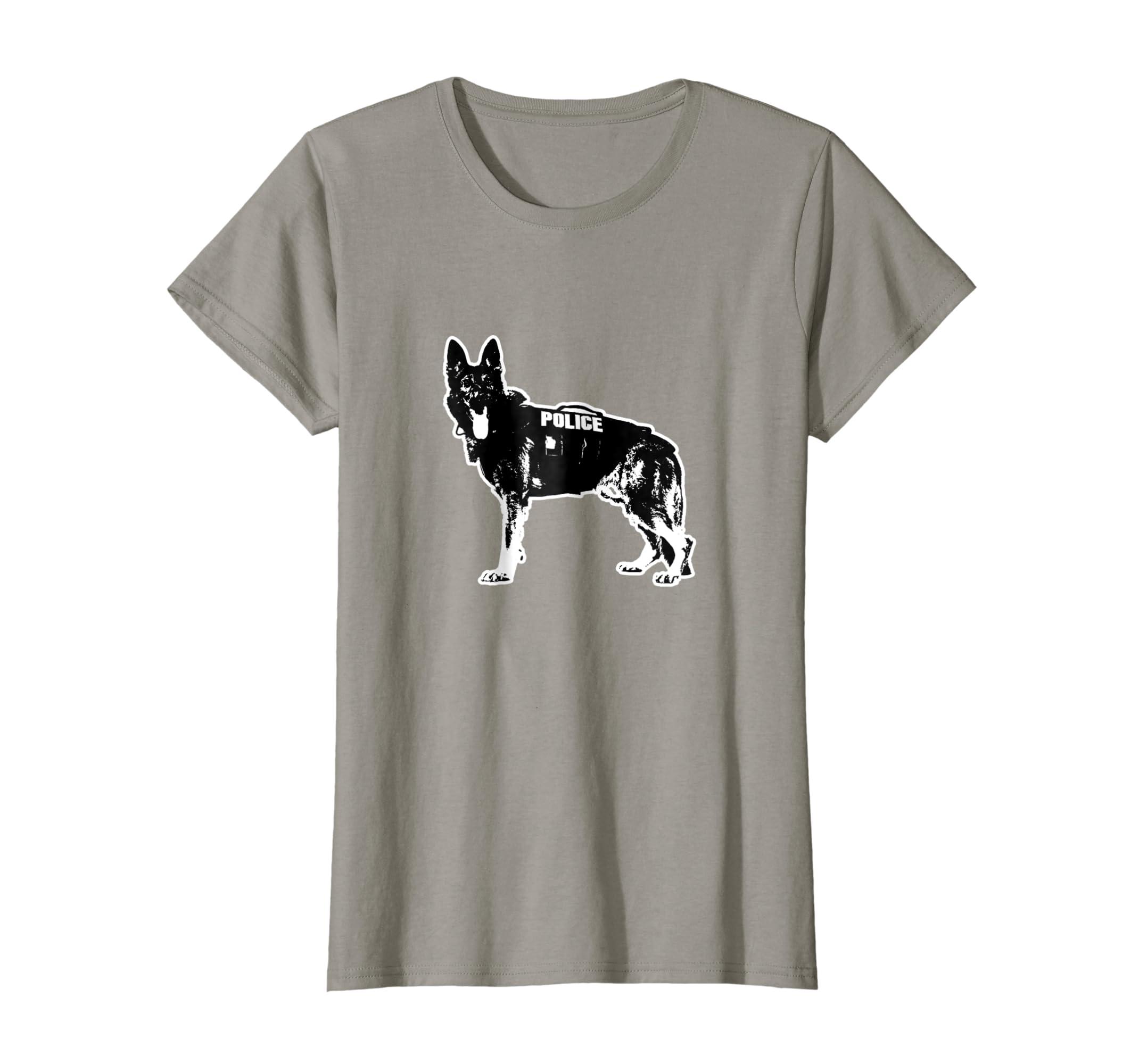 Amazon com: K9 Police Dog Hero T-Shirt: Clothing
