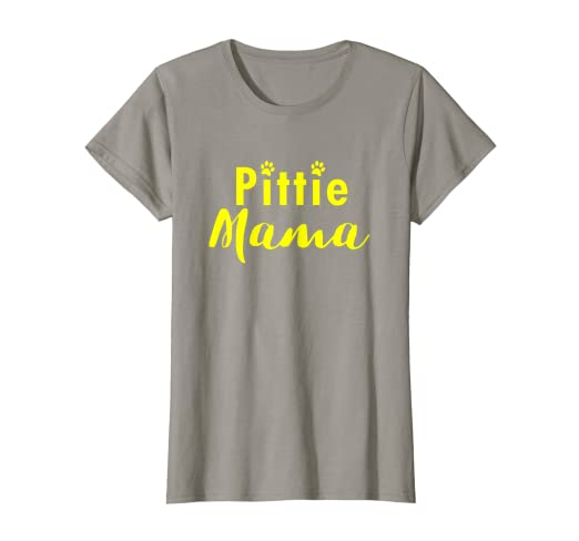 d8d2b2b2c Image Unavailable. Image not available for. Color: Womens Pitbull Tshirt -  Pittie Mama - Funny ...