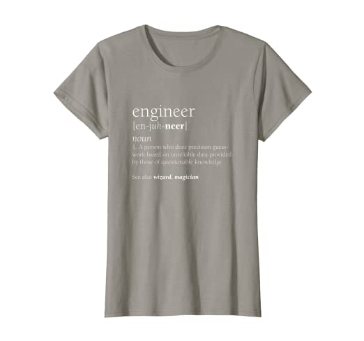5cf5e21be Amazon.com: Engineer Definition T Shirt, Funny Engineering Gift: Clothing