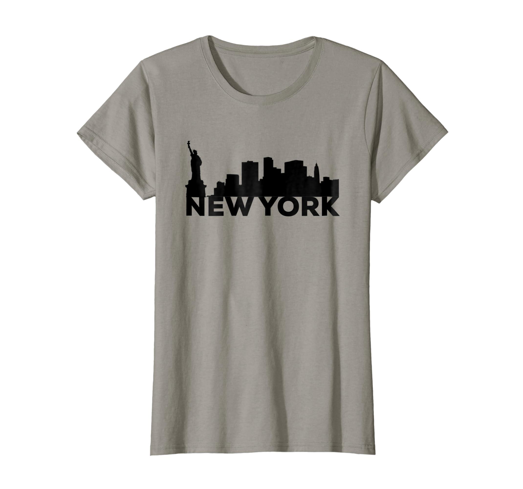 Amazon.com  New York City Buildings Statue of Liberty Souvenir T-shirt   Clothing cb64cd2626e