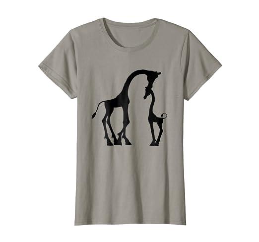 3813f508f5 Amazon.com: Giraffe T-Shirt Africa Dad mom child South Animals Safari:  Clothing