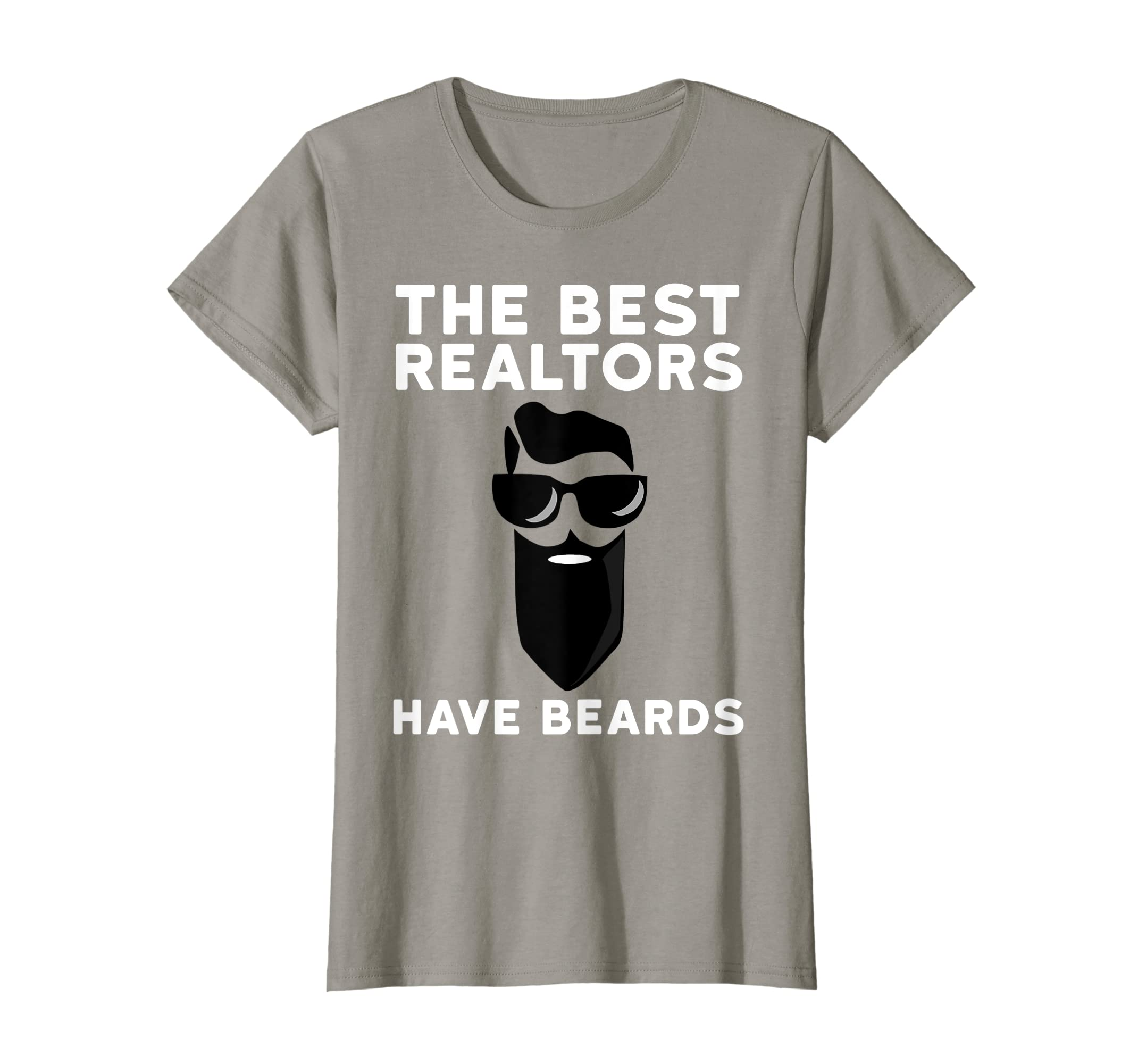 6cef1c324 Amazon.com: Funny Real Estate Beard Shirt The Best Realtors Have Beards:  Clothing