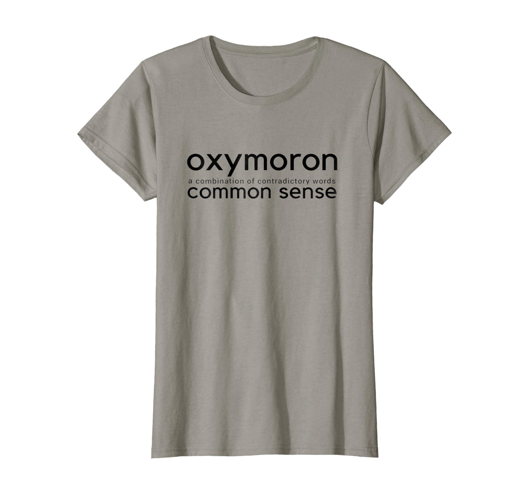 fa3fd5d0 Amazon.com: Funny T shirts Common Sense T-shirt: Clothing
