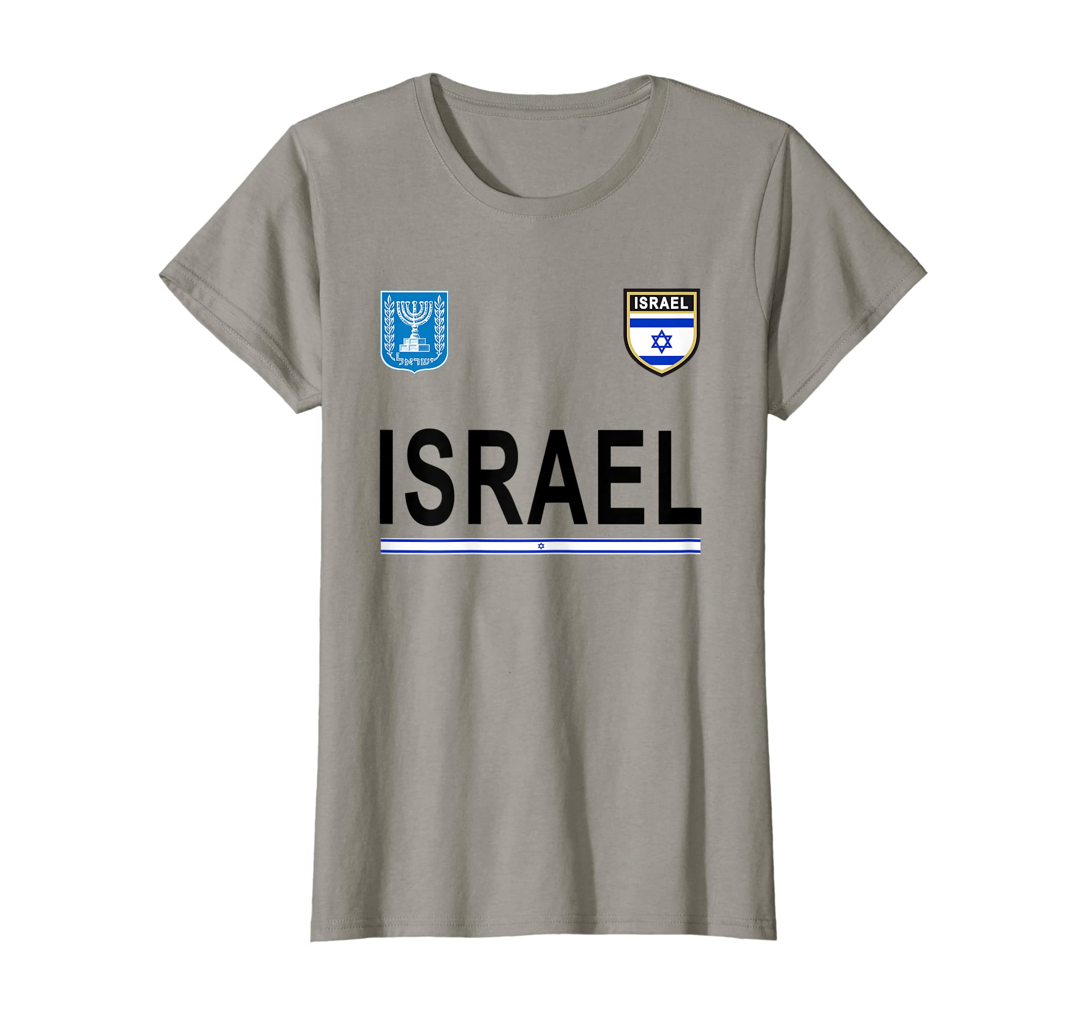 2de21bc4b Amazon.com  Israel Soccer T-Shirt - Israeli Retro Football Jersey 2017   Clothing