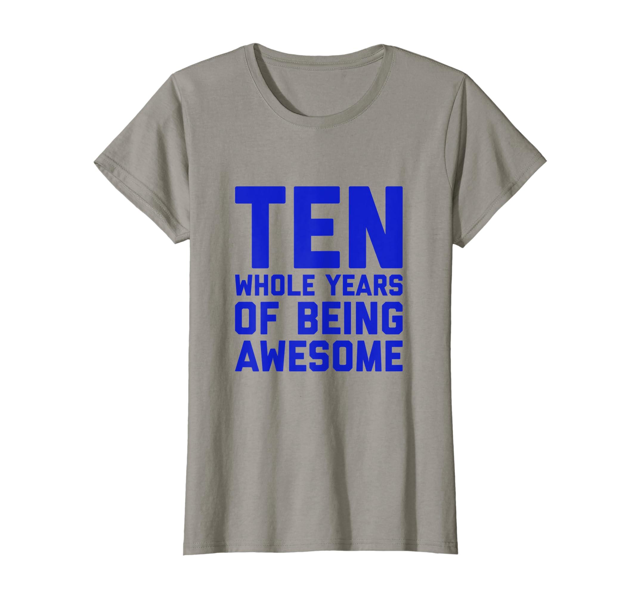 Amazon 10th Birthday Shirt Gift Boys Age 10 Year Old Boy Ten Son Clothing