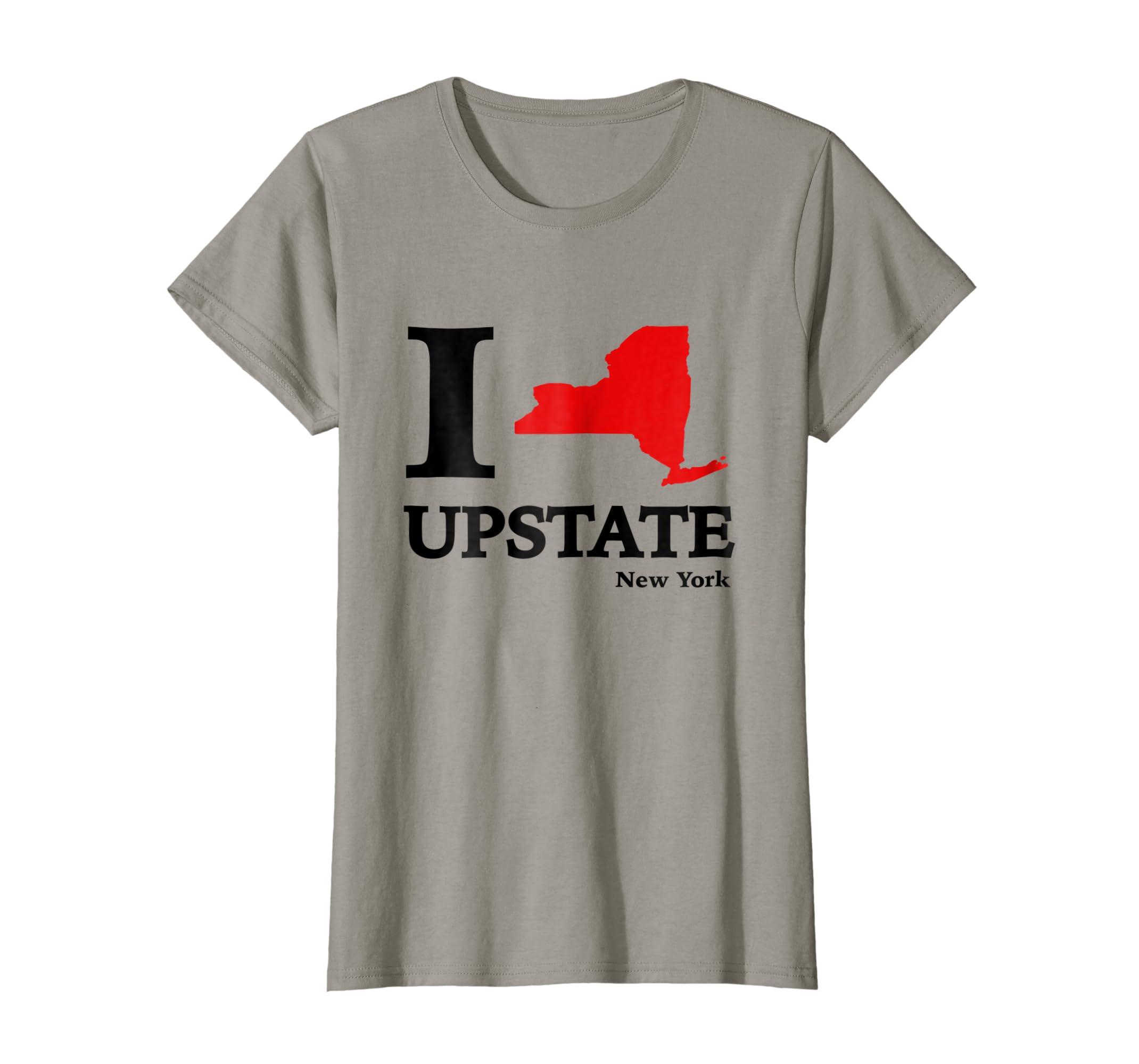 Amazon I Love Upstate Ny T Shirt New York Heart Map Tee Clothing