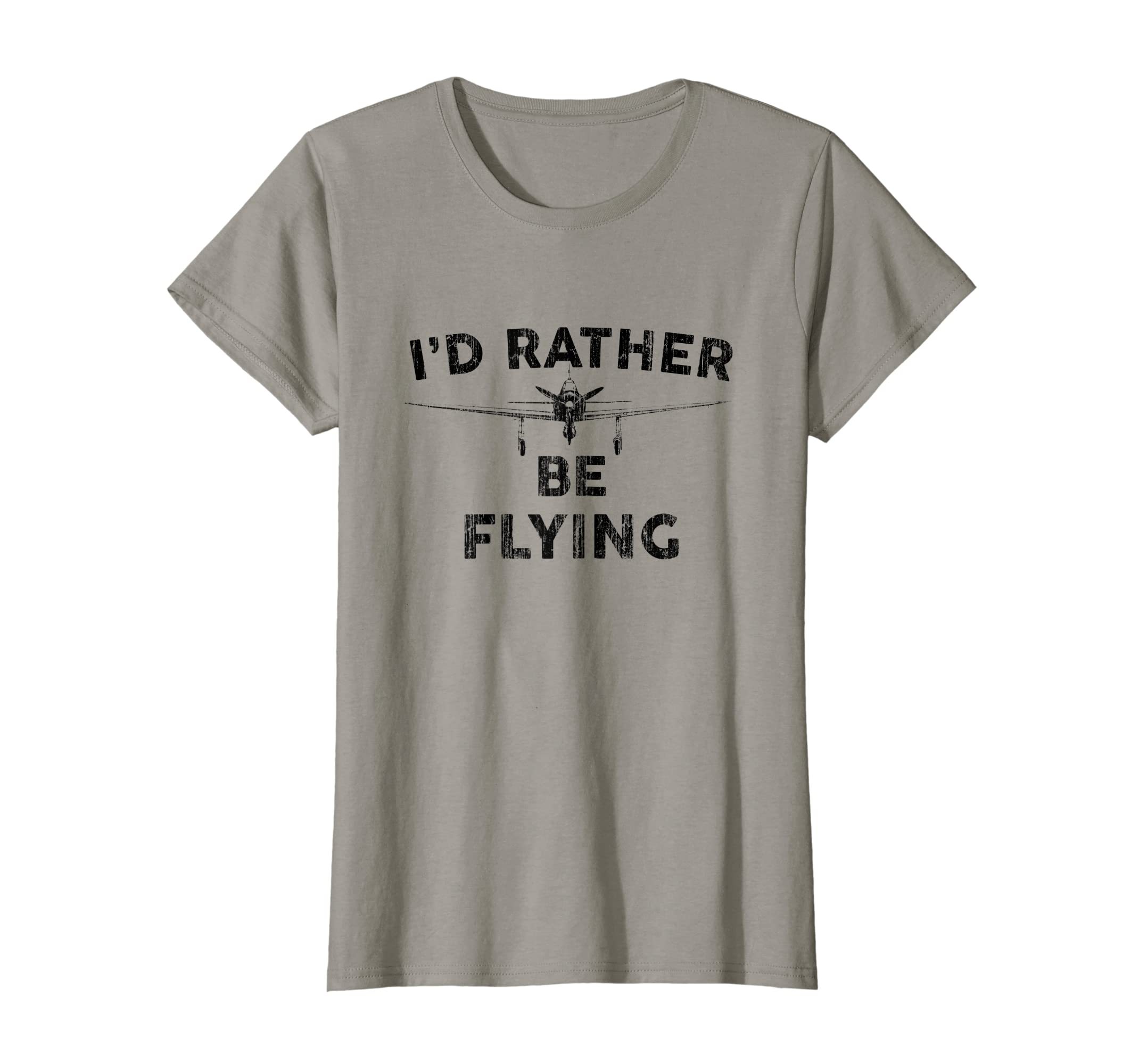 c9f586676a Amazon.com: I'd Rather be Flying T shirt Funny Airplane Aviation Pilot:  Clothing
